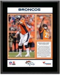 """Denver Broncos 52 Points Scored 9-29-2013 Sublimated 10.5"""" x 13"""" Plaque"""
