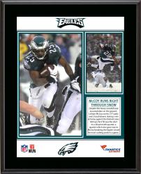 LeSean McCoy Philadelphia Eagles Single-Game Franchise Rushing Record Sublimated 10.5'' x 13'' Plaque - Mounted Memories