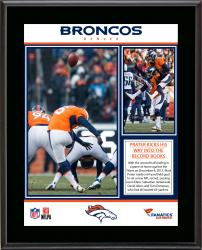 "Matt Prater Denver Broncos 64 Yard Field Goal NFL Record Sublimated 10.5"" x 13"" Plaque"