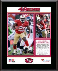 San Francisco 49ers 12/18/13 Victory Against Seattle Seahawks Sublimated 10.5'' x 13'' Plaque - Mounted Memories