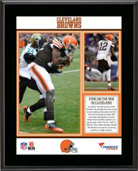 Josh Gordon Cleveland Browns 4-Game NFL Receiving Yardage Record Sublimated 10.5'' x 13'' Plaque - Mounted Memories