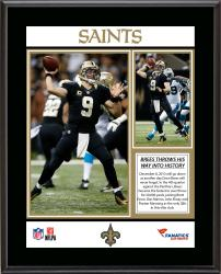 Drew Brees New Orleans Saints 50,000 Career Passing Yards Sublimated 10.5'' x 13'' Plaque - Mounted Memories