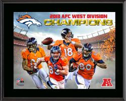 Denver Broncos 2013 AFC West Champs Sublimated 10.5'' x 13'' Plaque - Mounted Memories