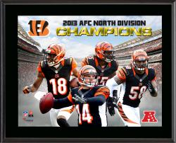 Cincinnati Bengals 2013 AFC North Champs Sublimated 10.5'' x 13'' Plaque - Mounted Memories