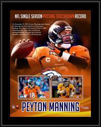 "Peyton Manning Denver Broncos Single-Season Passing Touchdown Record Sublimated 10.5"" x 13"" Plaque"