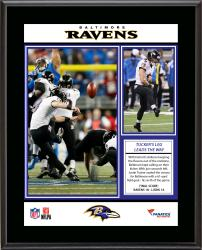 Justin Tucker Baltimore Ravens 6 Field Goals vs. the Detroit Lions Sublimated 10.5'' x 13'' Plaque - Mounted Memories