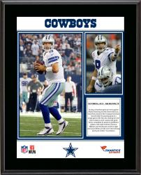 "Tony Romo Dallas Cowboys Franchise Single Game Passing Record Sublimated 10.5"" x 13"" Plaque"