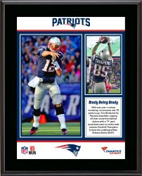 New England Patriots Win Over New Orleans Saints Sublimated 10.5'' x 13'' Plaque - Mounted Memories