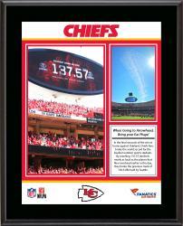 """Kansas City Chiefs Loudest Stadium vs. Oakland Raiders Sublimated 10.5"""" x 13"""" Plaque"""