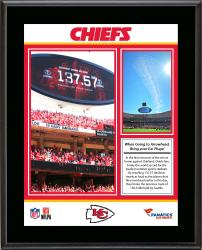 "Kansas City Chiefs Loudest Stadium vs. Oakland Raiders Sublimated 10.5"" x 13"" Plaque"