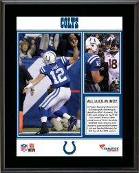 Andrew Luck Indianapolis Colts Victory in Indy Sublimated 10.5'' x 13'' Plaque - Mounted Memories