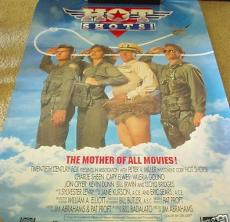 Hot Shots set of 2 two ORIGINAL 1991 27x40 full size movie posters Charlie Sheen