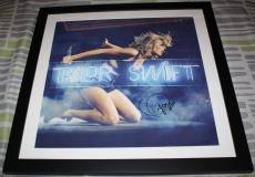 HOT Taylor Swift signed framed 22x22 lithograph, Fearless, 1989, Red,PSA/DNA LOA