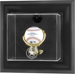 Houston Astros Black Framed Wall-Mounted 2013 Logo Baseball Display Case