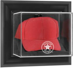 Houston Astros Black Framed Wall-Mounted 2013 Logo Cap Display Case