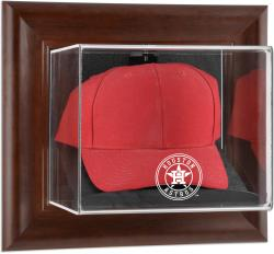 Houston Astros Brown Framed Wall-Mounted 2013 Logo Cap Case