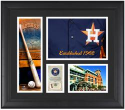 """Houston Astros Team Logo Framed 15"""" x 17"""" Collage with Piece of Game-Used Ball"""