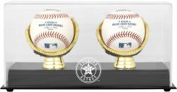 Houston Astros Gold Glove Double Baseball 2013 Logo Display Case