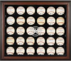 Houston Astros Logo Brown Framed 30-Ball 2013 Logo Display Case