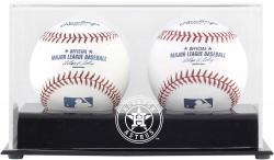 Houston Astros Two Baseball Cube 2013 Logo Display Case