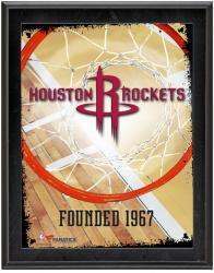 "Houston Rockets Team Logo Sublimated 10.5"" x 13"" Plaque"