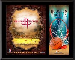 "Houston Rockets Sublimated 12"" x 15"" Team Logo Plaque"