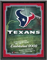 "Houston Texans Team Logo Sublimated 10.5"" x 13"" Plaque - Mounted Memories"