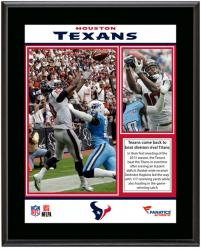 "Houston Texans Win Over Tennessee Titans Sublimated 10.5"" x 13"" Plaque"