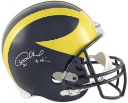 Desmond Howard Signed Michigan Riddell Deluxe Full-Size Replica Helmet w/'Heisman'91'