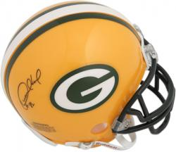 Desmond Howard Green Bay Packers Autographed Riddell Mini Helmet - Mounted Memories