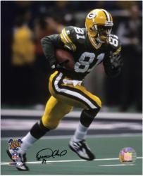 Desmond Howard Green Bay Packers Super Bowl XXXI Autographed 8'' x 10'' Running Photograph - Mounted Memories