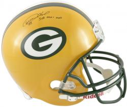 "Desmond Howard Green Bay Packers Autographed Riddell Replica Helmet with ""SBXXXI MVP"" Inscription - Mounted Memories"