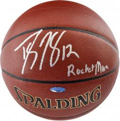 Dwight Howard Houston Rockets Autographed Spalding Indoor Outdoor Basketball with Rocket Man Inscription - Mounted Memories