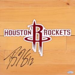"Dwight Howard Houston Rockets Autographed 12"" x 12"" Floor Piece"
