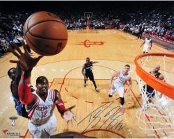 Dwight Howard Houston Rockets Autographed 16'' x 20'' Horizontal Lay-Up Photograph - Mounted Memories