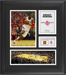 """Dwight Howard Houston Rockets Framed 15"""" x 17"""" Collage with Team-Used Ball"""