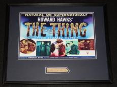 Howard Hawks Signed Framed 16x20 Photo Poster Display The Thing