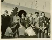 Howard Hughes Crew Signed Autographed 8x10 Flight Around The World Photo PSA/DNA