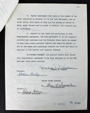 Howard Hughes Signed 5 Page 1955 Loan Contract PSA/DNA #AA08248