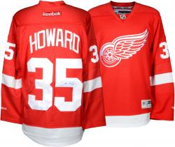 Jimmy Howard Detroit Red Wings Autographed Reebok Red Jersey - Mounted Memories