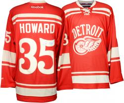 Jimmy Howard Detroit Red Wings Autographed Reebok Home Jersey - Mounted Memories