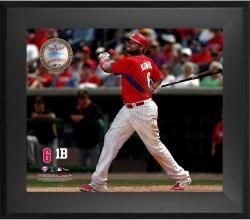 Ryan Howard Philadelphia Phillies Framed 20'' x 24'' Gamebreaker Photograph with Game-Used Ball - Mounted Memories