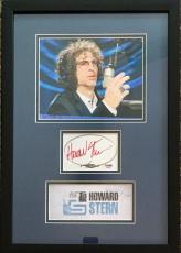 HOWARD STERN (Shock Jock-King of All Media) signed custom framed display-PSA