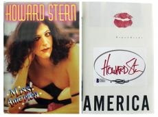 Howard Stern Signed Miss America First Edition Book W/ Lip Print BAS #C54657