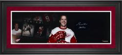 Gordie Howe Detroit Red Wings Framed Autographed 10'' x 30'' Filmstrip Photograph with Mr. Hockey Inscription - Mounted Memories