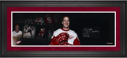 Gordie Howe Detroit Red Wings Framed Autographed 10'' x 30'' Filmstrip Photograph with Multiple Inscription-Limited Edition of 15 - Mounted Memories