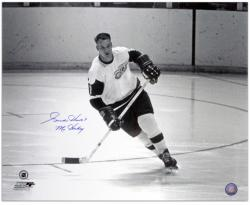 "Gordie Howe Detroit Red Wings Autographed 16"" x 20"" Helmet Off Photograph with Mr. Hockey Inscription"