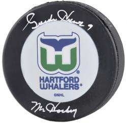 "Howe, Gordie Auto ""mr Hockey"" (whalers) Hockey Puck"
