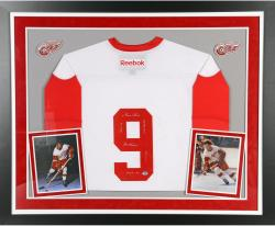 Gordie Howe Autographed Red Wings Jersey - Multiple Inscribed, Deluxe Framed