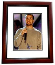 Howie Dorough Signed - Autographed Backstreet Boys 8x10 Photo MAHOGANY CUSTOM FRAME